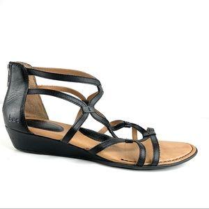 Born BOC Strappy Mini Wedge Sandals